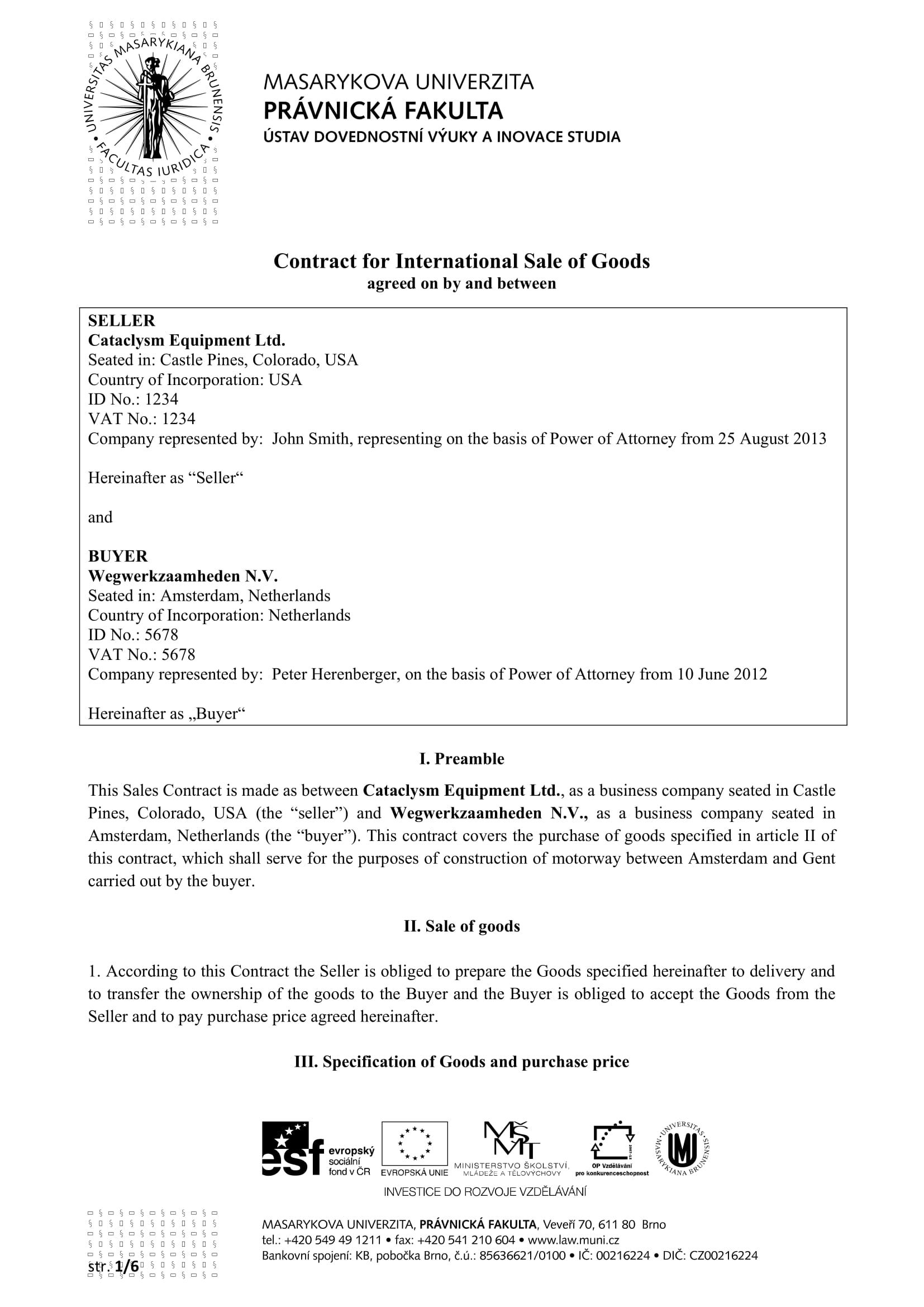 International Contract For Sale Of Goods Pdf Trade Mandegarfo