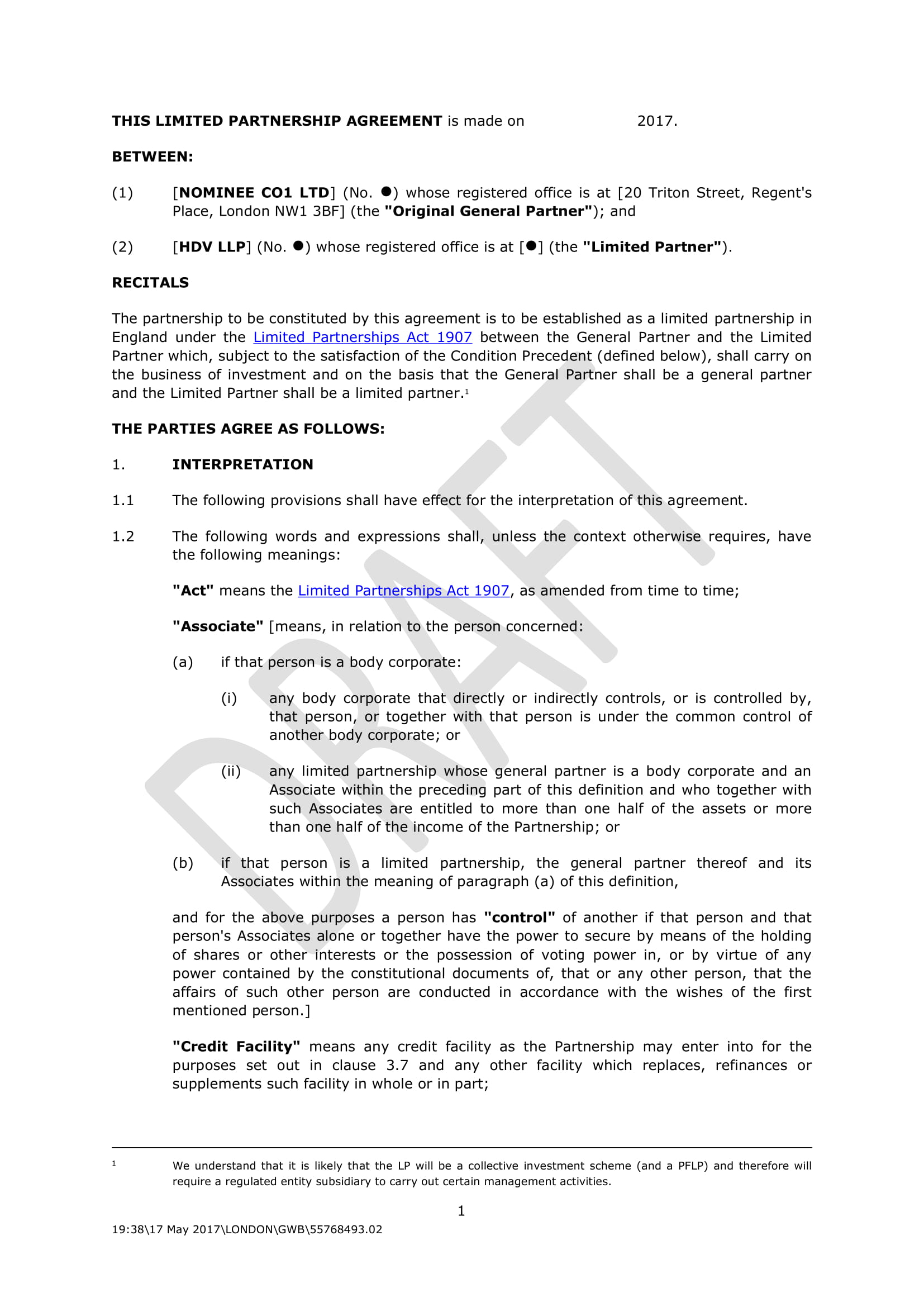 3 Limited Partnership Agreement Contract Forms Pdf Doc