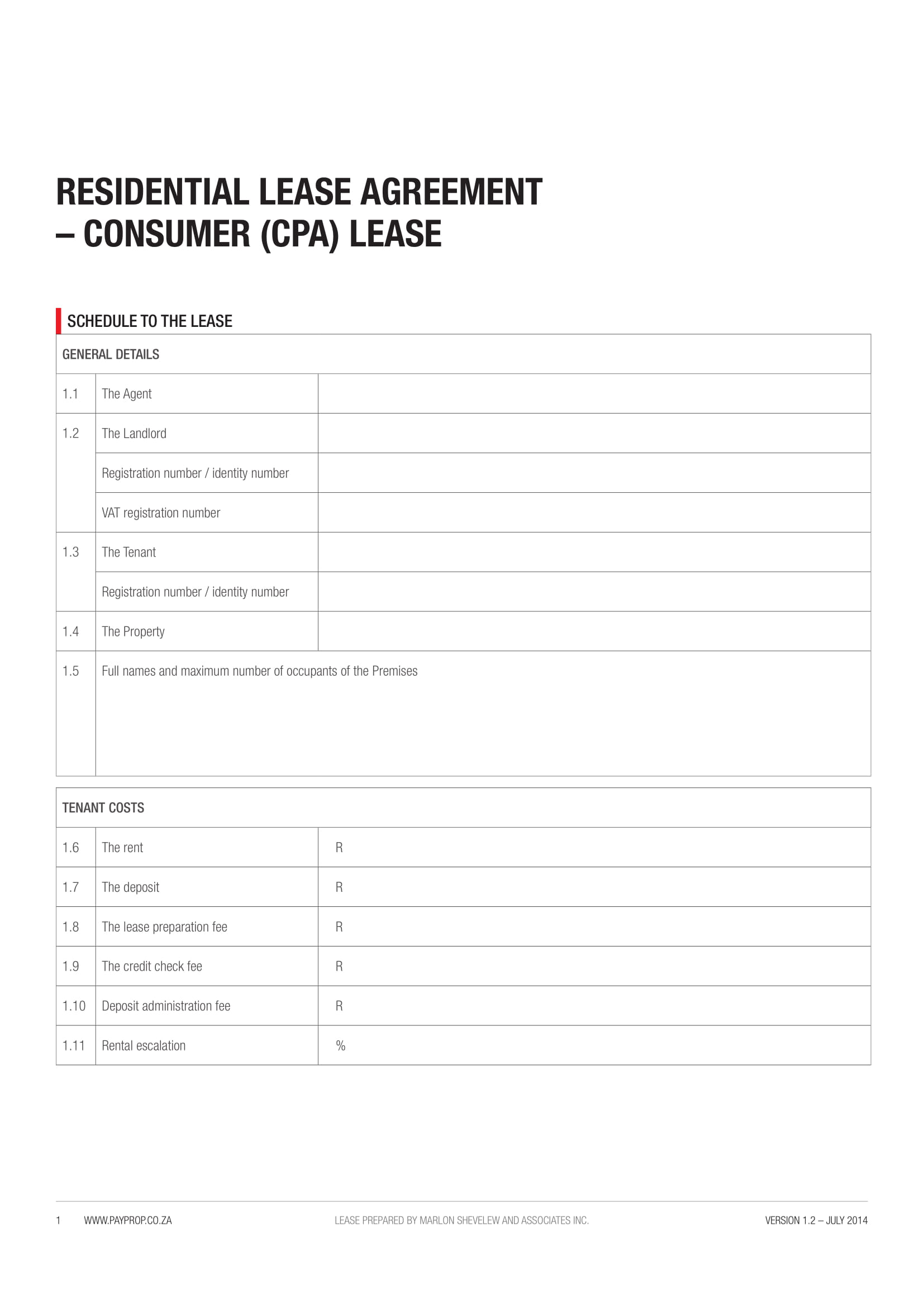 Free 6 Residential Lease Agreement Contract Forms In Pdf Doc