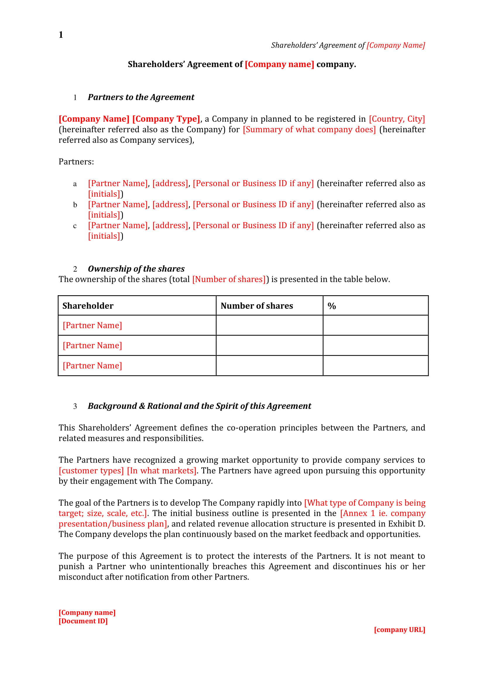 3+ Shareholder Agreement Contract Forms - PDF, DOC