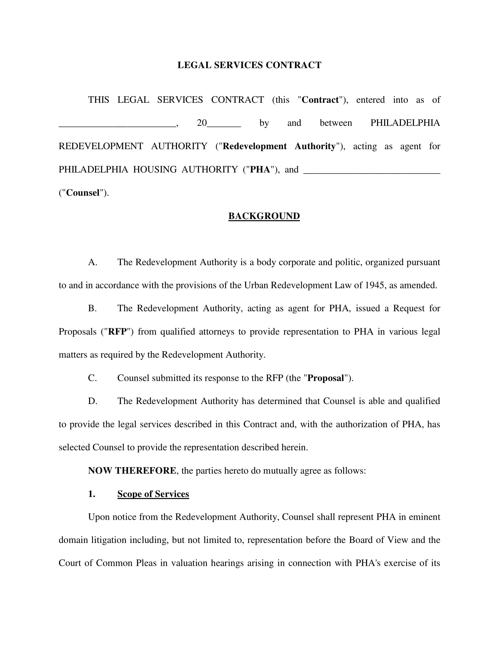 simple legal services contract form 1