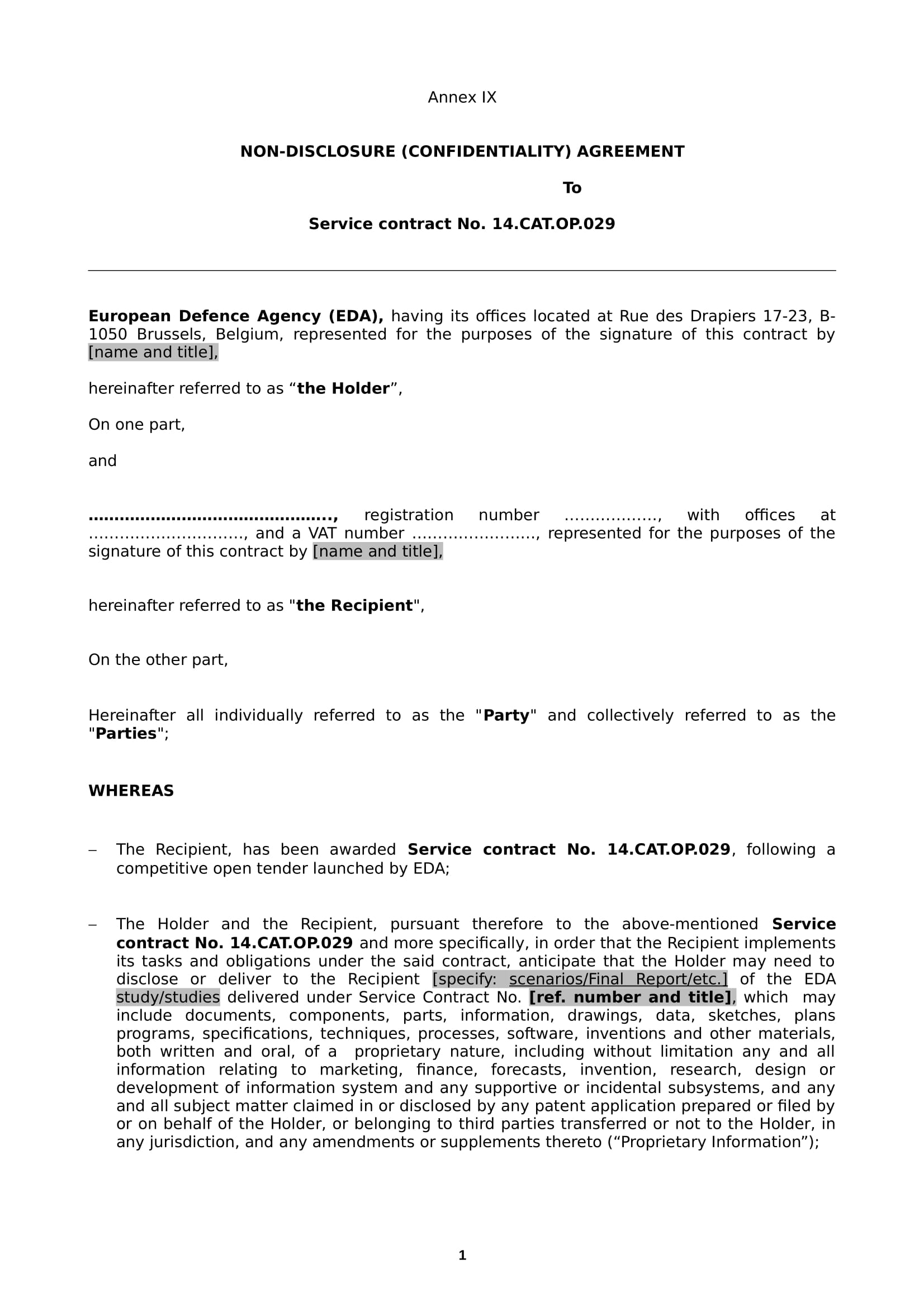 7 Non Disclosure Agreement Contract Forms Pdf Doc