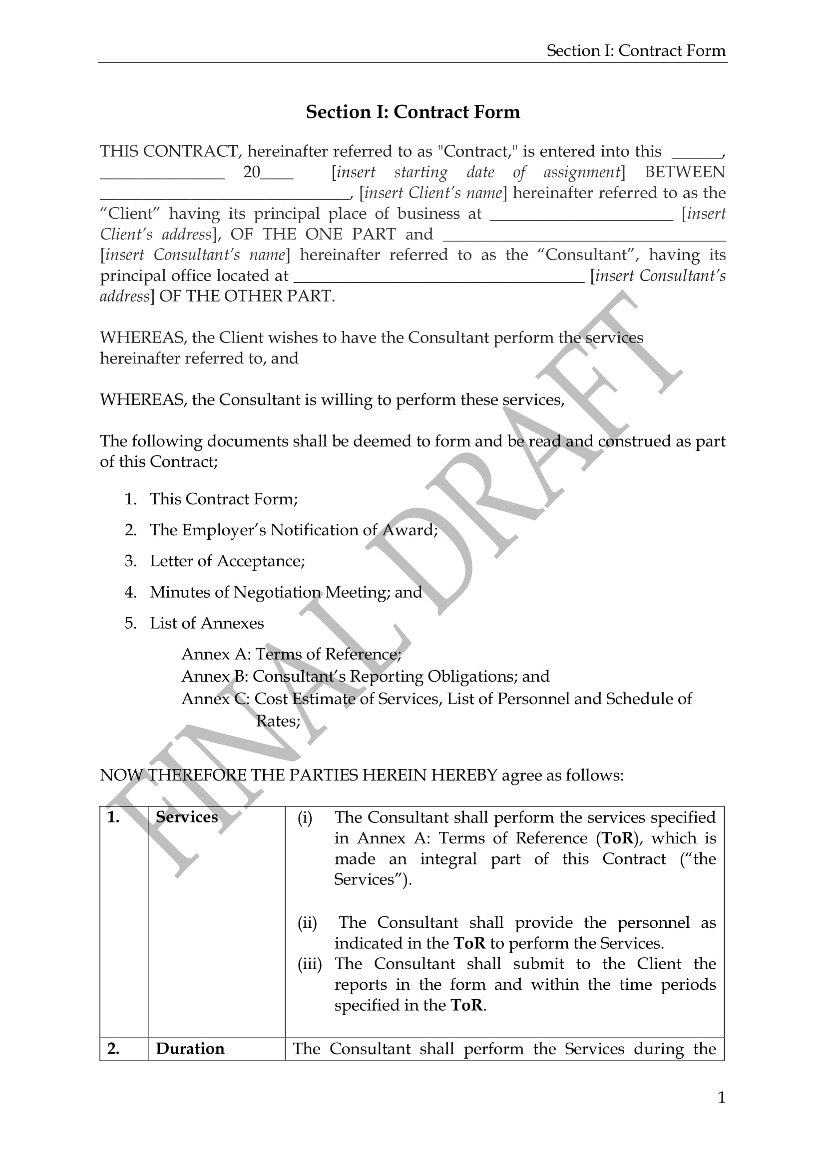 standard consultancy contract form 04
