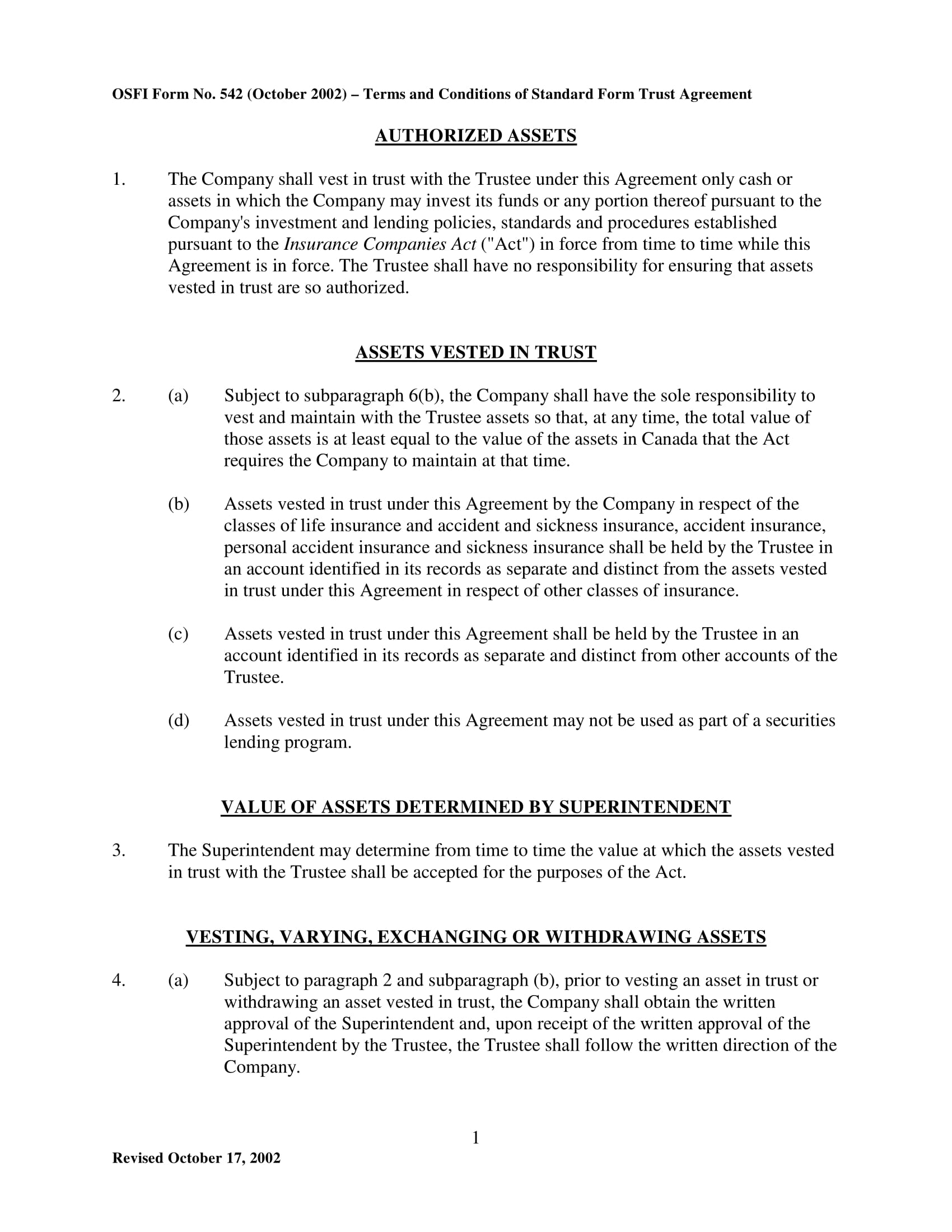 5 Trust Agreement Contract Forms Pdf