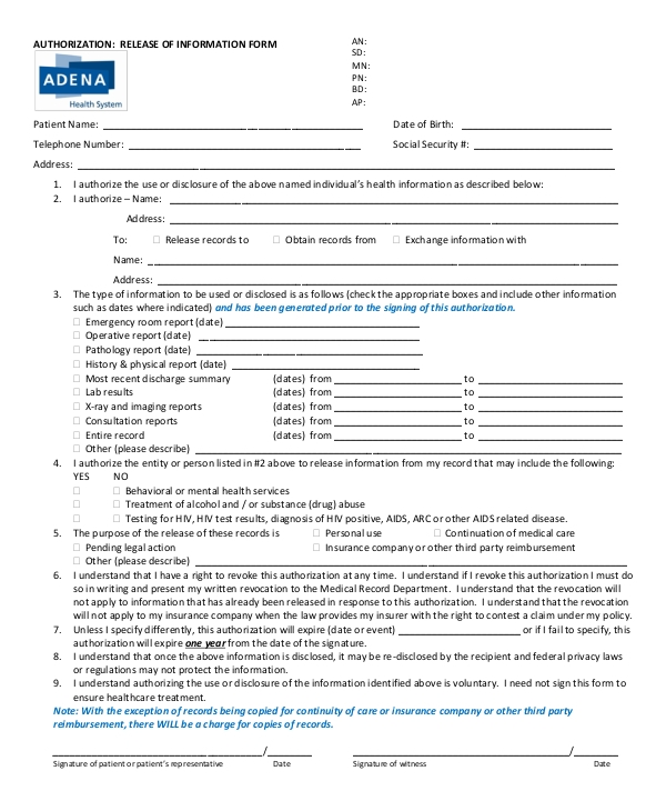 FREE 10+ Authorization Release Forms in PDF