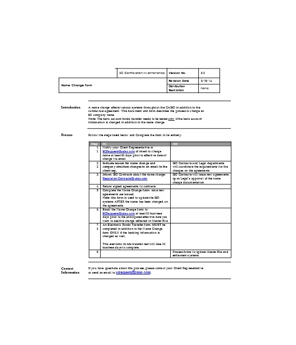 company legal name change form