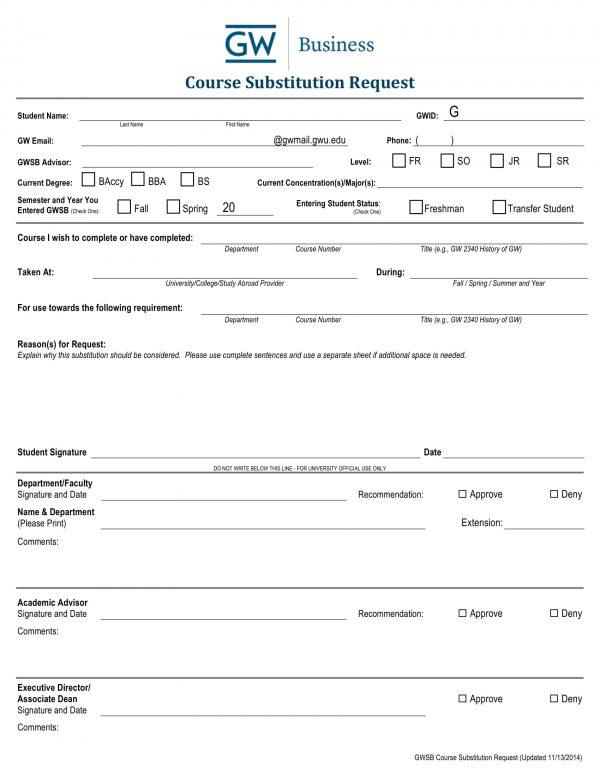 course substitution request form 2 e1527137534441
