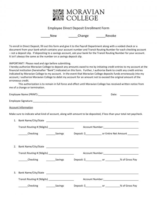 employee direct deposit enrollment revocation form 1 e1526460725529