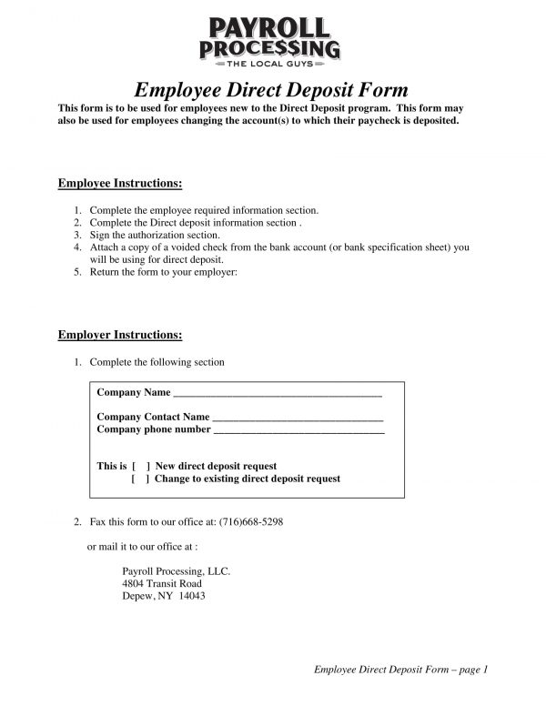 employee direct deposit form 1 e1525929344948