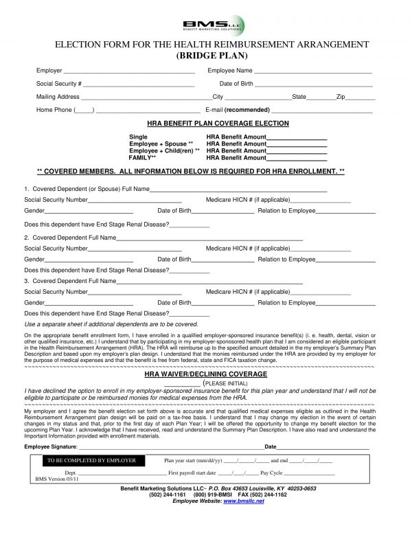 employee health reimbursement arrangement election form 1 e1526432742419
