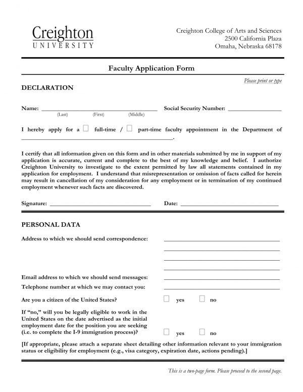 faculty application form sample 1 e1526891544478
