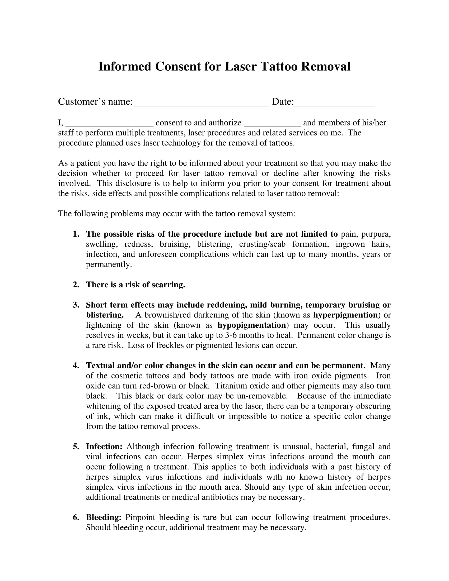 laser tattoo removal informed consent form 1