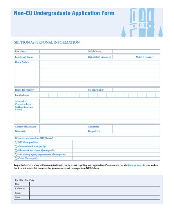 printable undergraduate application form