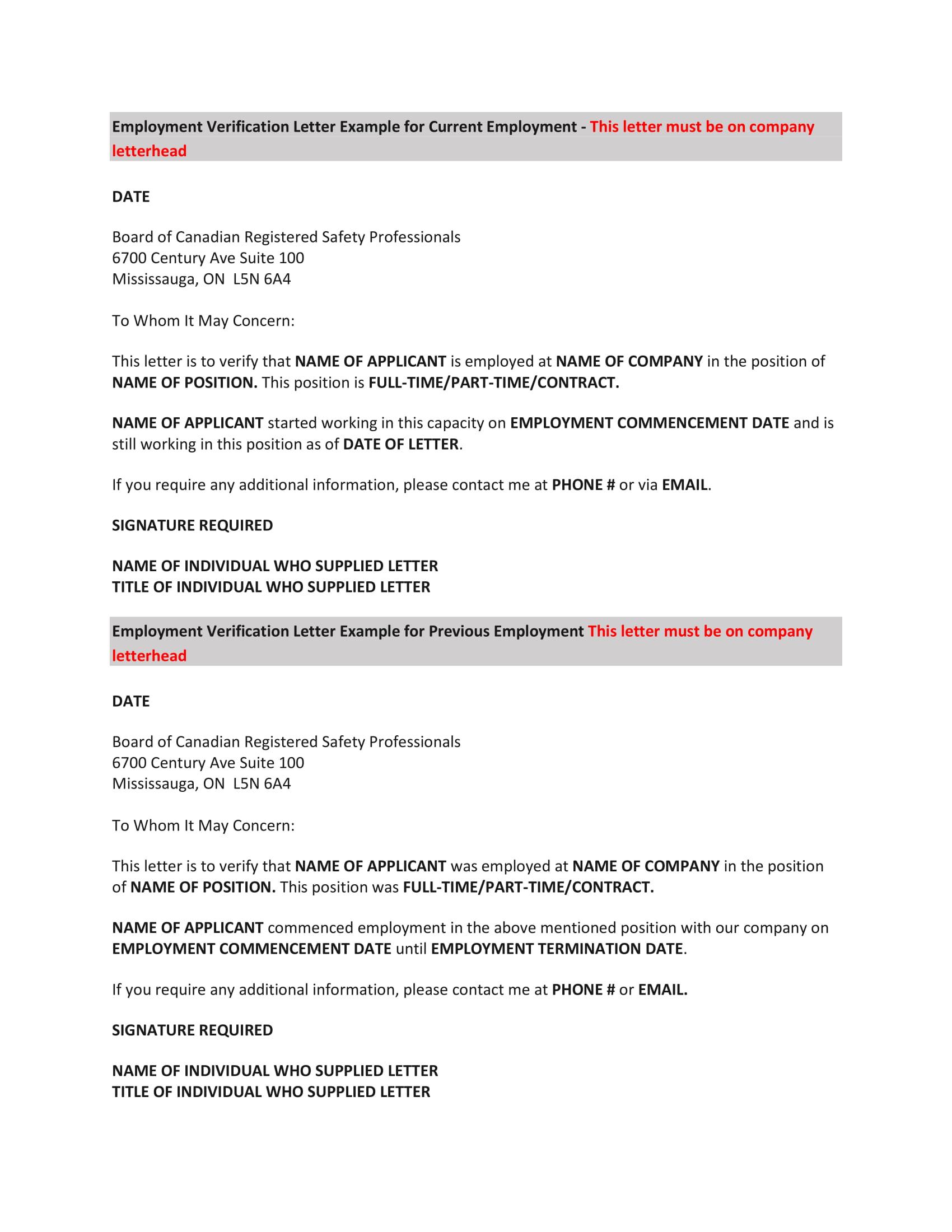 Restaurant-Employment-Verification-Letter-Template-1 Job Application Form For Restaurant on