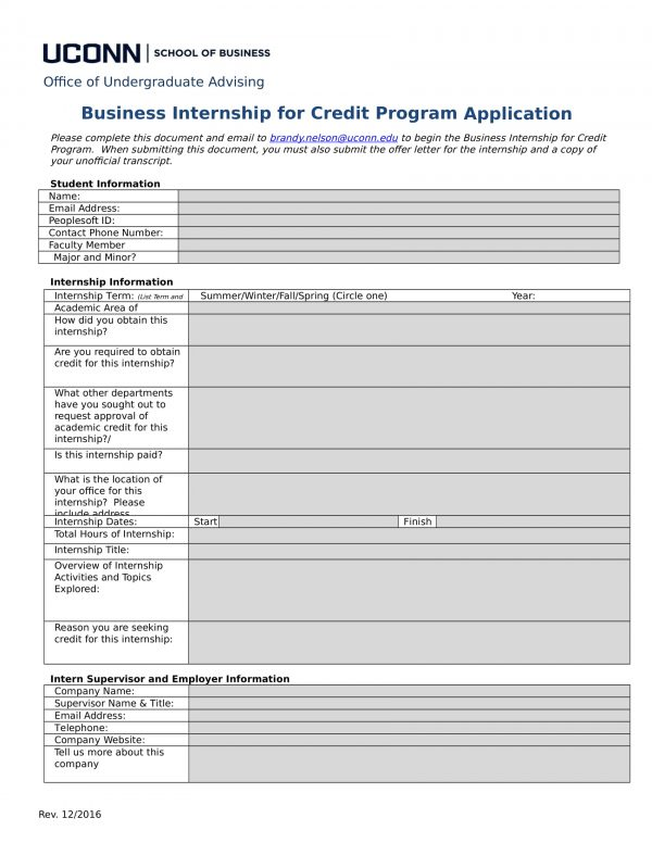 school of business internship for credit program application 1 e1527042411303