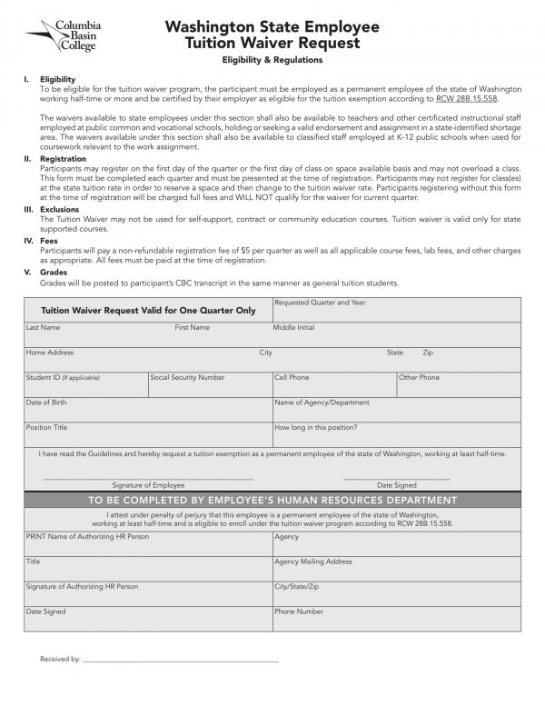 state employee tuition waiver request form 1 e1525942187771