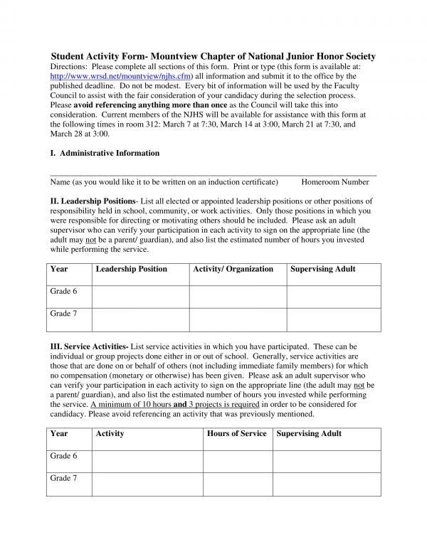 student activity form 1 e1527060060114