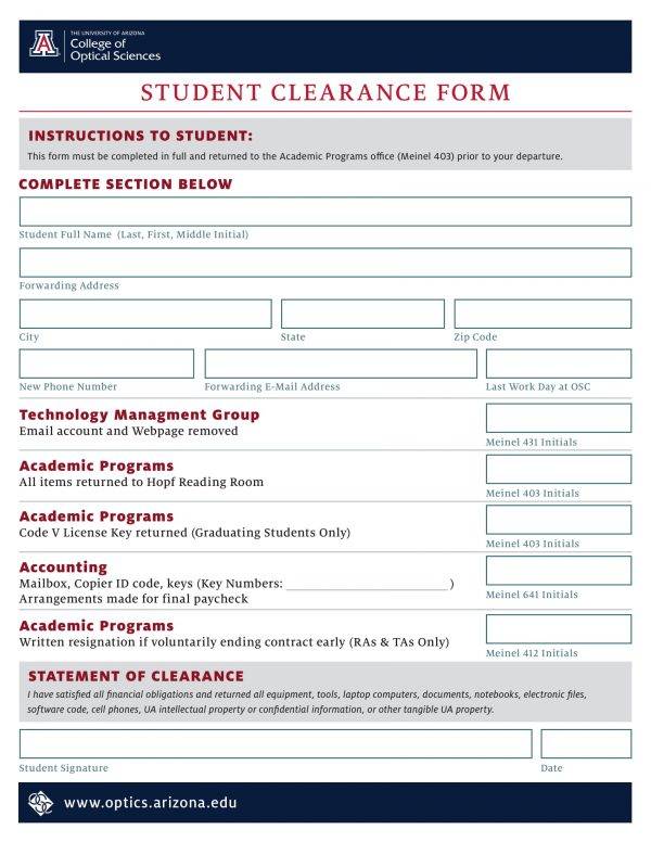 student clearance form 1 e1527060105409