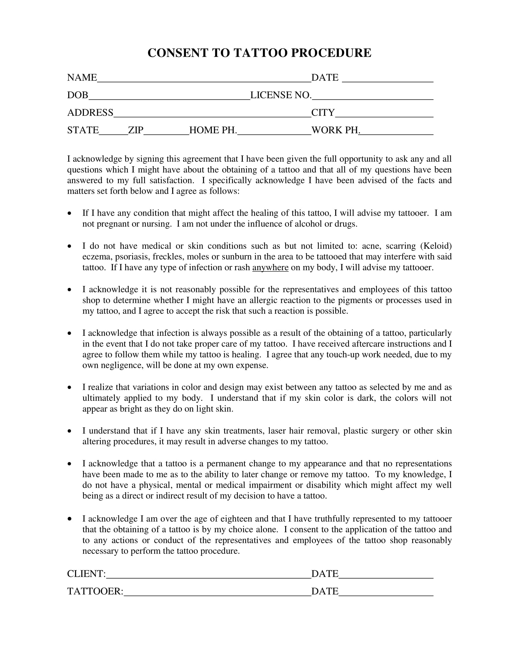 tattoo release form nice tattoo release form template gallery entry level resume - Tattoo Release Form