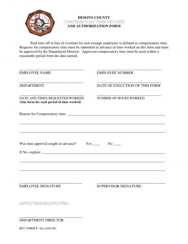 compensatory time request authorization form 1 e1528076917390