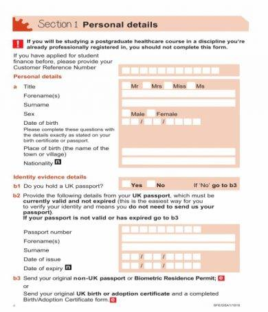 disabled student allowance application form1