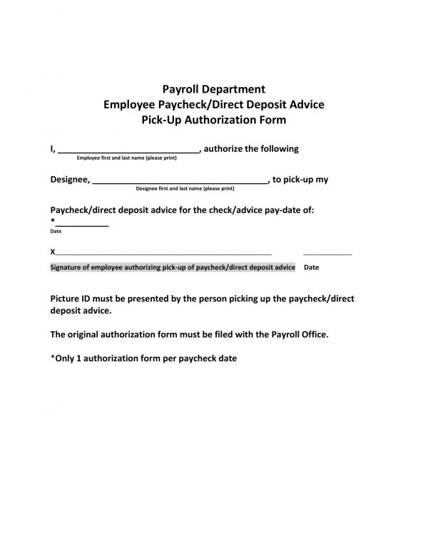 employee paycheck direct deposit advice pick up authorization form 1 e1528260812144
