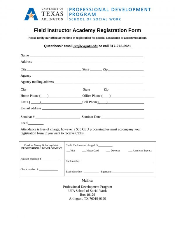field education instructor registration form sample 11 e1528275282934