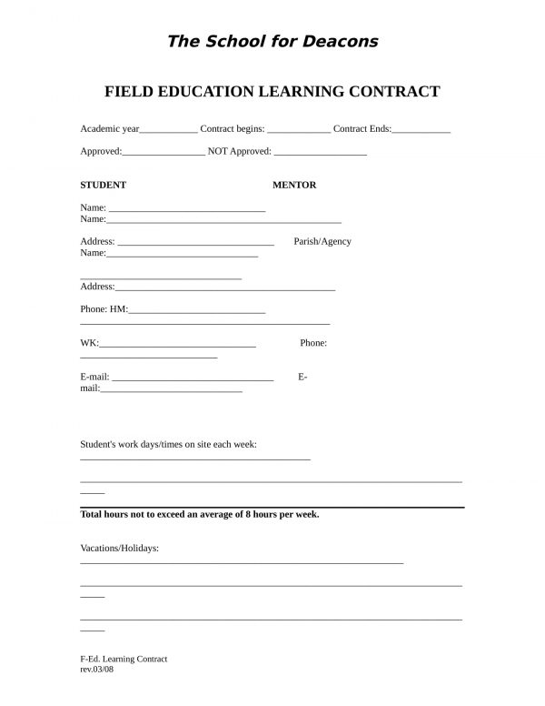 field education learning contract form 1 e1528275376196