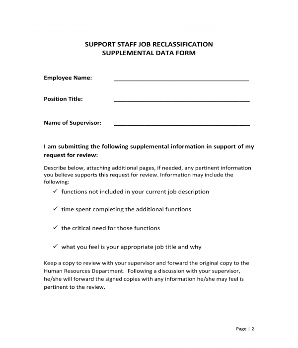 FREE 7+ Reclassification Request Forms in PDF | DOC