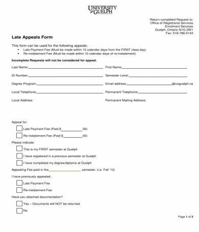 late appeals form1