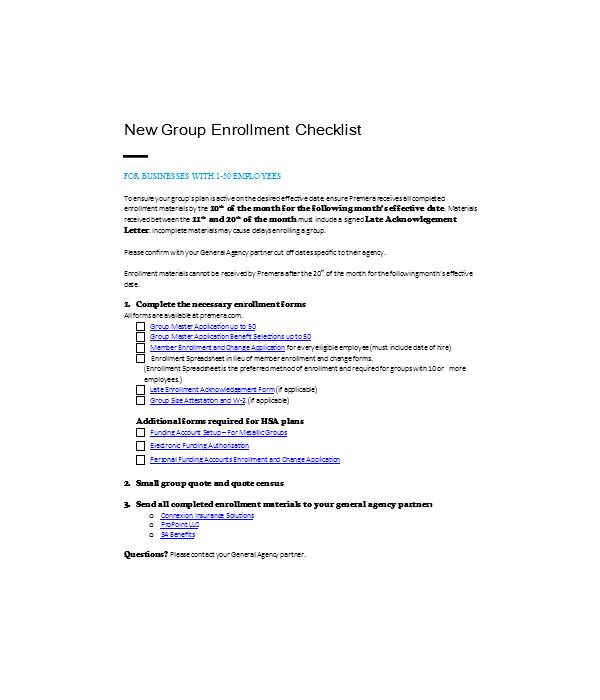 new group enrollment form