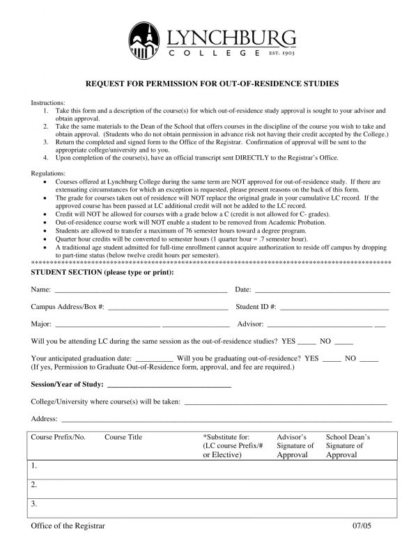out of residence studies permission request form 1 e1527819133100