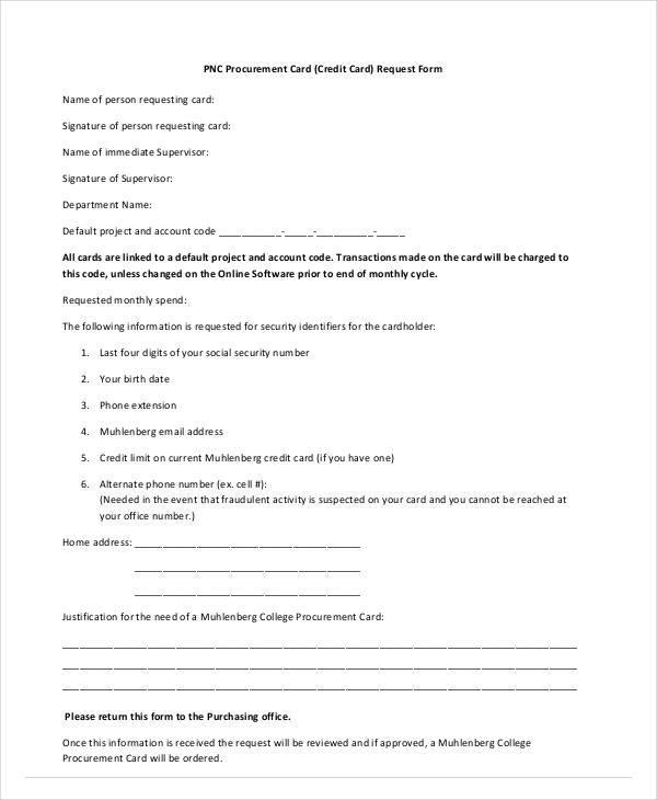 procurement card request form2