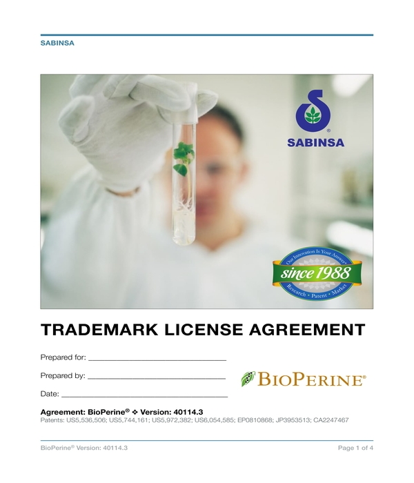trademark license agreement form