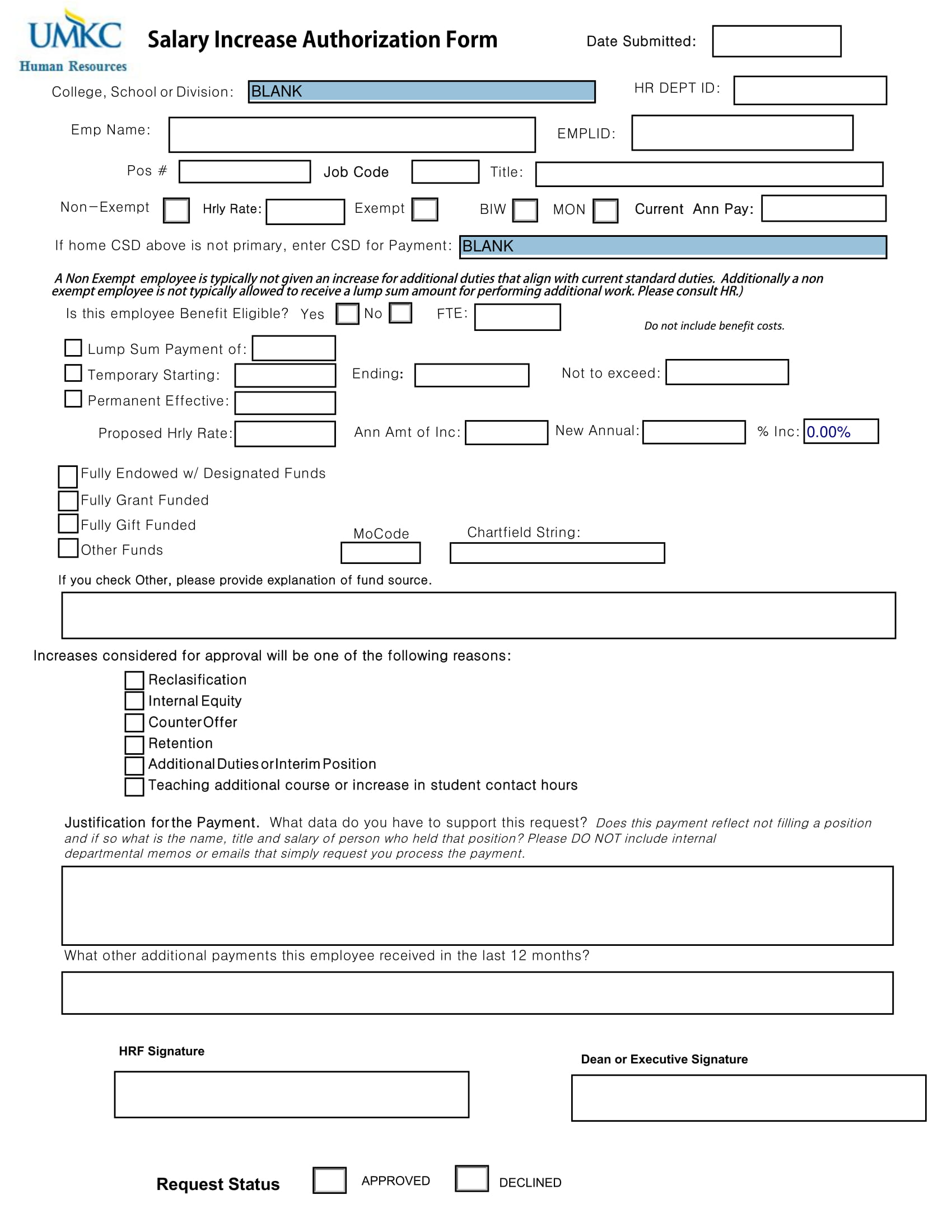 salary increase form 1
