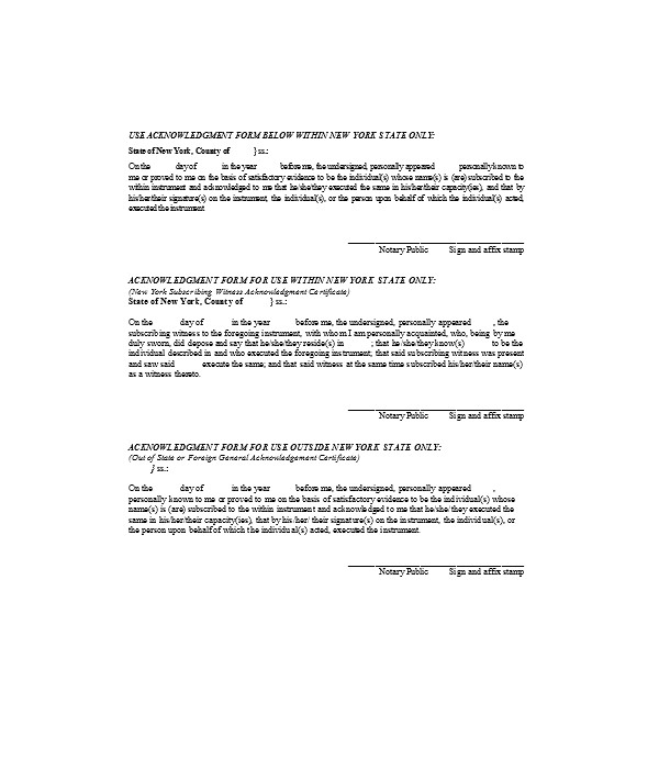 general witness acknowledgment form1