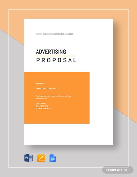 advertising proposal template