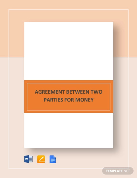 agreement between two parties for money template1
