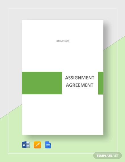 assignment agreement template