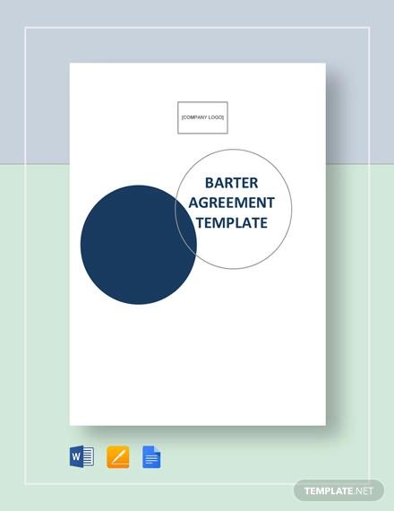 barter agreement template