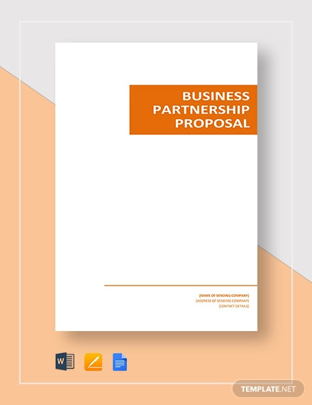 business partnership proposal template