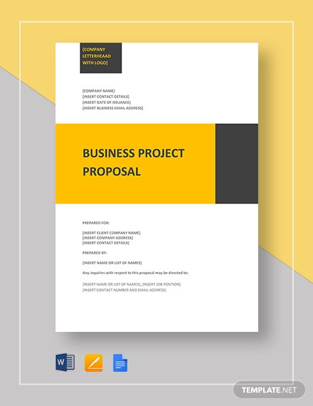 business project proposal template