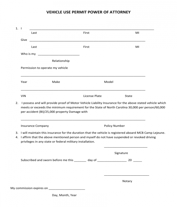 power of attorney form for vehicle  FREE 11+ Vehicle Power of Attorney Forms in PDF | DOC