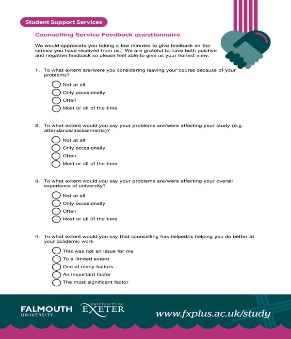 career counseling service feedback form