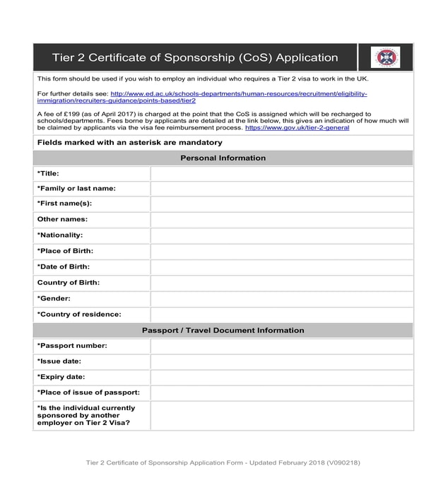 certificate of sponsorship application form