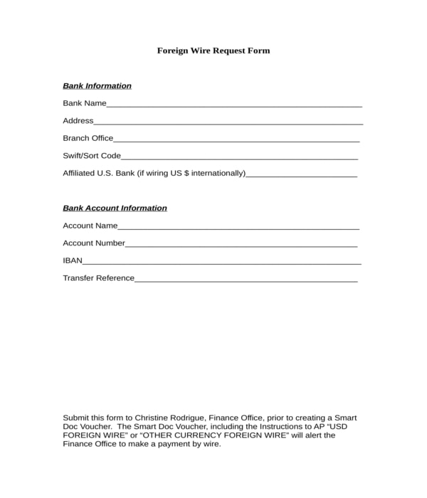 foreign wire request form