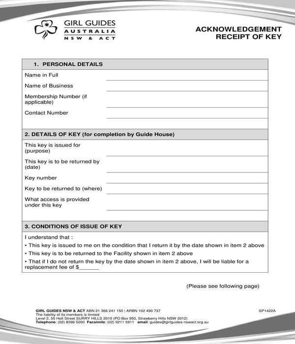 FREE 4+ Property Acknowledgment Forms in PDF | XLS