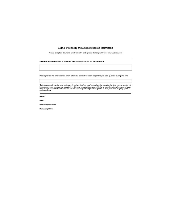 availability contact information form