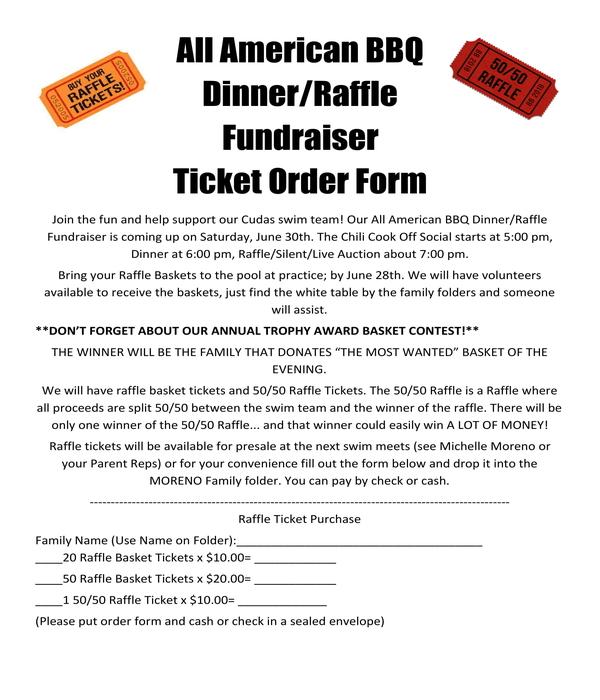 bbq fundraiser ticket order form