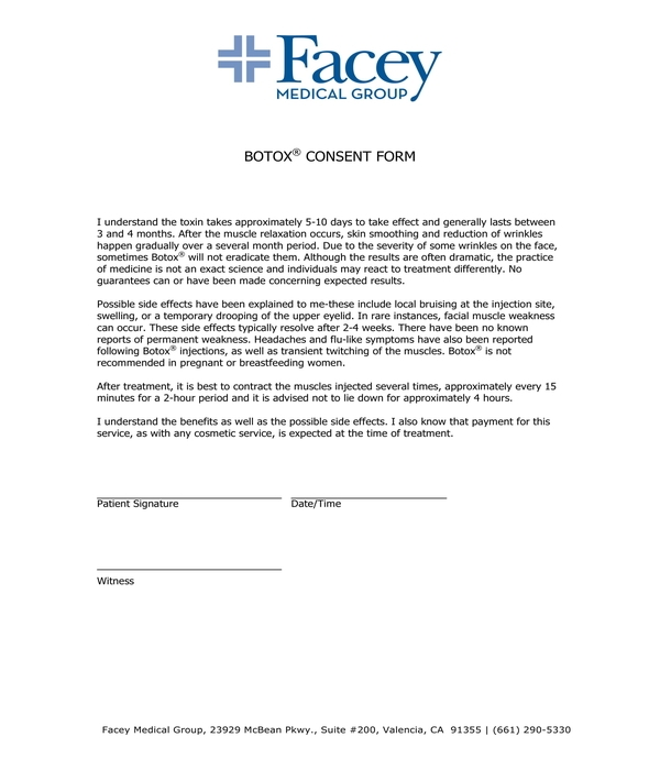 FREE 8+ Botox Consent Forms in PDF | DOC